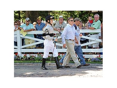 Dylan Davis and Robbie Davis Jr. at Saratoga.