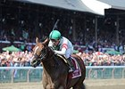 "Palace is the 2-1 morning-line favorite for the Vosburgh. <br><a target=""blank"" href=""http://photos.bloodhorse.com/AtTheRaces-1/At-the-Races-2014/i-gSR9GD4"">Order This Photo</a>"