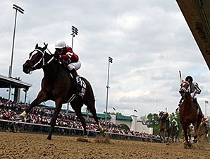 113,071 saw Untapable win the 2014 Kentucky Oaks.