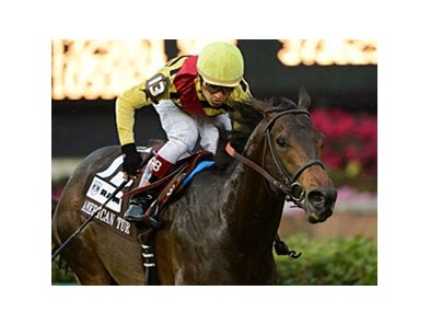 "Silver Max won the American Turf Stakes on May 4 by 2 1/4 lengths.<br><a target=""blank"" href=""http://photos.bloodhorse.com/AtTheRaces-1/at-the-races-2012/22274956_jFd5jM#!i=1829086852&k=s66rft8"">Order This Photo</a>"