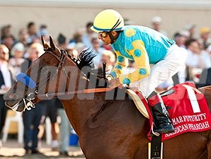 American Pharoah won the Del Mar Futurity by 4 3/4 lengths Sept. 3.