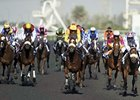 Racing at Meydan in Dubai.