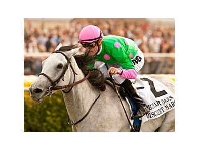 Del Mar Oaks winner Discreet Marq runs in the Pebbles Stakes on Columbus Day.