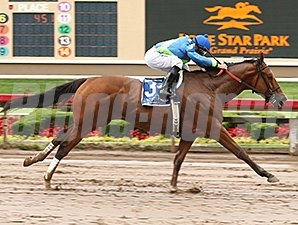 Grand Contender wins the Lone Star Park Handicap.