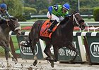 "By the Moon won the 2014 Frizette Stakes. <br><a target=""blank"" href=""http://photos.bloodhorse.com/AtTheRaces-1/At-the-Races-2014/i-THsxnv9"">Order This Photo</a>"