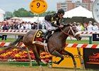 "Oxbow and Gary Stevens win the 2013 Preakness. <br><a target=""blank"" href=""http://photos.bloodhorse.com/TripleCrown/2013-Triple-Crown/Preakness-Stakes-138/29423277_98XmS6#!i=2519582770&k=t2VnCcN"">Order This Photo</a>"