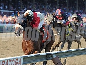 Wicked Strong and Rajiv Maragh take the Jim Dandy Stakes at Saratoga.