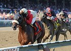 "Wicked Strong and Rajiv Maragh take the Jim Dandy Stakes at Saratoga.<br><a target=""blank"" href=""http://photos.bloodhorse.com/AtTheRaces-1/At-the-Races-2014/i-4r4JrMk"">Order This Photo</a>"