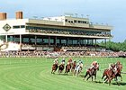 The Colonial Downs simulcast signal for the upcoming summer meet is being withheld from several wagering outlets.
