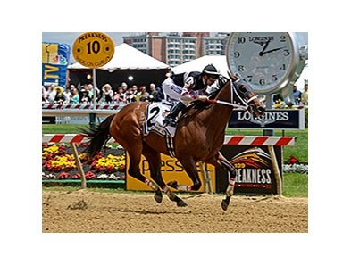 "Happy My Way runs away with the Maryland Sprint Handicap.<br><a target=""blank"" href=""http://photos.bloodhorse.com/AtTheRaces-1/At-the-Races-2014/i-LfP4qMV"">Order This Photo</a>"