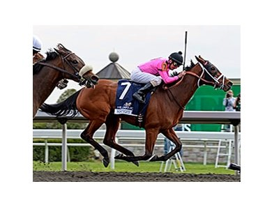 "Sisterly Love holds off Moment in Dixie to win the Doubledogdare Stakes.<br><a target=""blank"" href=""http://photos.bloodhorse.com/AtTheRaces-1/At-the-Races-2014/35724761_2vdnSX#!i=3188106484&k=XNP2c7b"">Order This Photo</a>"
