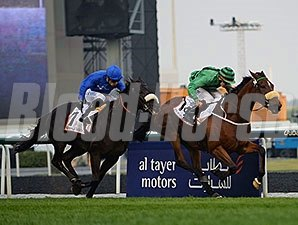 Certerach holds off Cavalryman to win the Dubai Gold Cup.