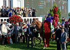 "The goal for California Chrome was to win the Kentucky Derby.<br><a target=""blank"" href=""http://photos.bloodhorse.com/TripleCrown/2014-Triple-Crown/Kentucky-Derby-140/i-BcFb654"">Order This Photo</a>"