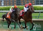 "Moonshine Mullin and Calvin Borel take the Alysheba Stakes.<br><a target=""blank"" href=""http://photos.bloodhorse.com/AtTheRaces-1/At-the-Races-2014/i-Jrt7RmX/A"">Order This Photo</a>"