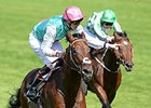 "Kingman wins the St. James's Palace Stakes (Eng I). <br><a target=""blank"" href=""http://photos.bloodhorse.com/AtTheRaces-1/At-the-Races-2014/i-PNPhkqK"">Order This Photo</a>"