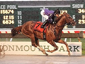 Rainbow Heir wins the New Jersey Breeders' Handicap.