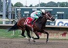 "Favorite Tale comes home strong to win the Gallant Bob Stakes.<br><a target=""blank"" href=""http://photos.bloodhorse.com/AtTheRaces-1/At-the-Races-2014/i-htMPS69"">Order This Photo</a>"