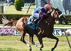 "Minorette rolls to victory in the Belmont Oaks.<br><a target=""blank"" href=""http://photos.bloodhorse.com/AtTheRaces-1/At-the-Races-2014/i-cRhcv6z"">Order This Photo</a>"