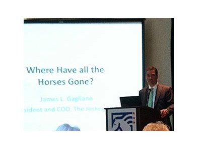 Jim Gagliano speaks to National Issues Forum attendees June 24.