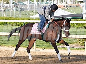 Unbridled Forever finished 2nd in the Coaching Club American Oaks.
