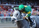 "Stonetastic won the Prioress Stakes by 8 1/2 lengths.<br><a target=""blank"" href=""http://photos.bloodhorse.com/AtTheRaces-1/At-the-Races-2014/i-zZcJJr8"">Order This Photo</a>"