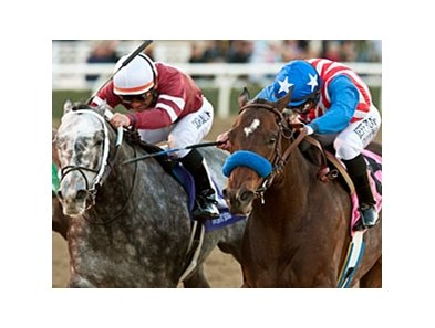 Tritap (left) finished second to Fed Biz in the 2013 San Fernando.