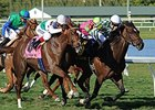 "Centre Court (right) holds off Kitten's Point to win the Honey Fox Stakes.<br><a target=""blank"" href=""http://photos.bloodhorse.com/AtTheRaces-1/At-the-Races-2014/35724761_2vdnSX#!i=3123864099&k=75ZV3wq"">Order This Photo</a>"