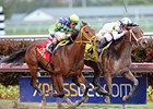 "Constitution gets through on the inside to win the Florida Derby.<br><a target=""blank"" href=""http://photos.bloodhorse.com/AtTheRaces-1/At-the-Races-2014/35724761_2vdnSX#!i=3149374171&k=zJFGfSB"">Order This Photo</a>"