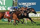 La Tia wins the Athenia Stakes.