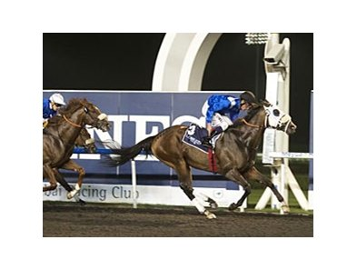 Barbecue Eddie won the Al Maktoum Challenge Round 1 on January 10.