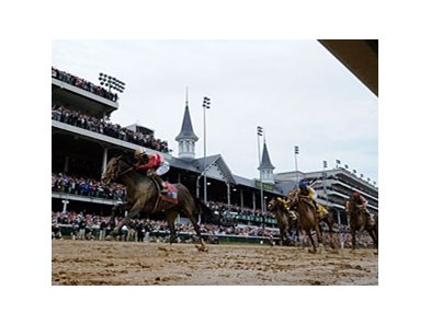 "Orb's Kentucky Derby victory is one of the choices for Moment of the Year.<br><a target=""blank"" href=""http://photos.bloodhorse.com/TripleCrown/2013-Triple-Crown/Kentucky-Derby-139/29213460_Rcqkd4#!i=2493590430&k=Gsvp3MK"">Order This Photo</a>"