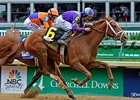 "Princess of Sylmar makes her first start since winning the Kentucky Oaks.<br><a target=""blank"" href=""http://photos.bloodhorse.com/AtTheRaces-1/at-the-races-2013/27257665_QgCqdh#!i=2491586352&k=rQDZXKM"">Order This Photo</a>"