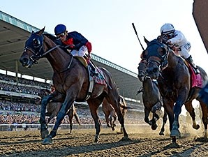 Tonalist wins the Belmont Stakes.