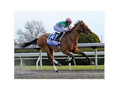 "Emollient rolls to victory in the Ashland.<br><a target=""blank"" href=""http://photos.bloodhorse.com/AtTheRaces-1/at-the-races-2013/27257665_QgCqdh#!i=2443841913&k=xwF3gGm"">Order This Photo</a>"