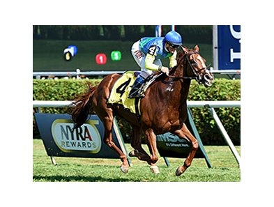 Dayatthespa winning the Yaddo Stakes at Saratoga Aug. 24.