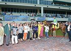 Wildcat Red's connections in the Winner's Circle after his Fountain of Youth win.