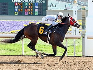 Rivers Run Deep won the Tall Stack Stakes at Belterra Park in May.