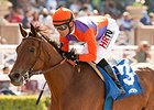 Beholder cruised to victory in the Santa Lucia Stakes at Santa Anita in her 2015 debut.
