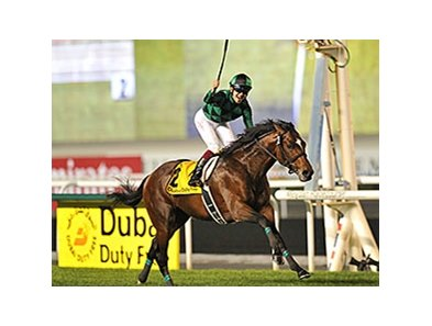 "Just a Way dominates the Dubai Duty Free.<br><a target=""blank"" href=""http://photos.bloodhorse.com/AtTheRaces-1/Dubai-2014/38085033_tQgx4h#!i=3148783293&k=T5w2W2d"">Order This Photo</a>"