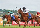 Ribbons running in the Prix Jean Romanet.