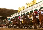 Racing at Santa Anita Park.
