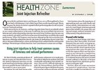 Health Zone: Joint Injection Refresher