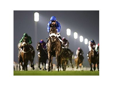 Cavalryman leaves the others behind in the Nad Al Sheba Trophy.