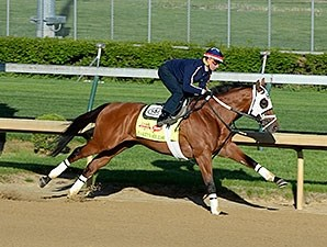 Harry's Holiday breezed five furlongs at Churchill Downs on April 26, 2014.