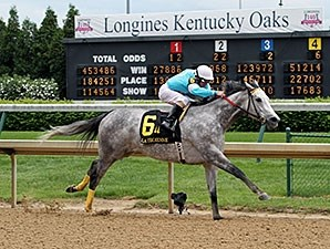 On Fire Baby won the La Troienne Stakes on May 2.