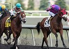 Conquest Typhoon (left) finished 2nd in the Clarendon Stakes on July 12.
