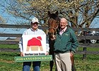 Mike McMahon, a managing partner at Bourbon Lane Stable, and Michael Blowen, president of Old Friends