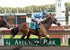 Aurelia's Belle won the Arlington Park Oaks on Polytrack July 19.
