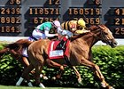 "Wise Dan won the 2014 Woodford Reserve Turf Classic. <br><a target=""blank"" href=""http://photos.bloodhorse.com/AtTheRaces-1/At-the-Races-2014/i-ZNQG4Fx"">Order This Photo</a>"