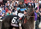 Shared Belief and jockey Mike Smith following the Breeders' Cup Classic.